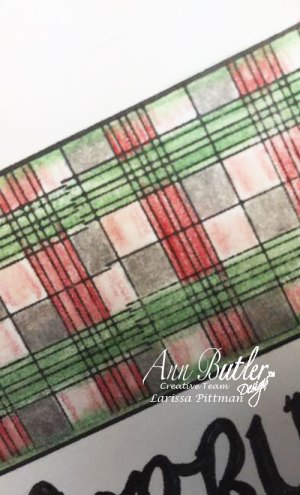 Plaid Stamped Christmas Card