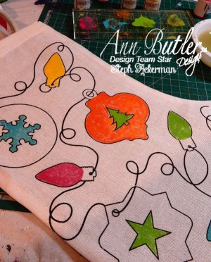 How-to Color a Christmas Stocking