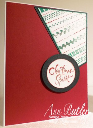 Faux Stitched Stamped Christmas Cards