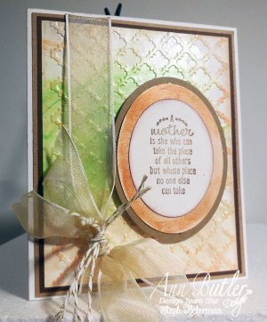 Sweet embossed card for Mom