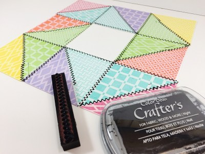 Ann Butler Designs How To Make A Spring Inspired Faux Quilted Frame Beth Watson