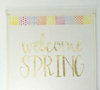 Stamped Spring Bling Banner