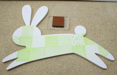 Stamped Spring Wood Bunny