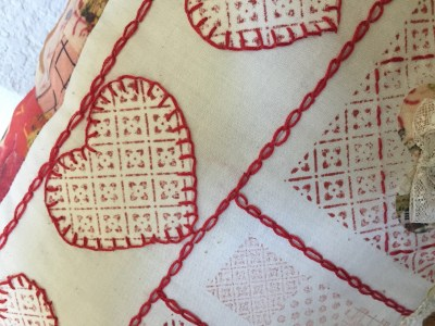 Red Work Inspired Sampler Part 3 Appliques