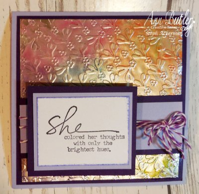 Faux Metal Effect with Ann Butler Designs