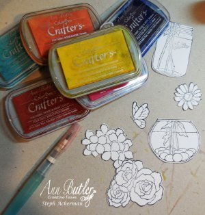 Flip Cards using Crafter's Inks