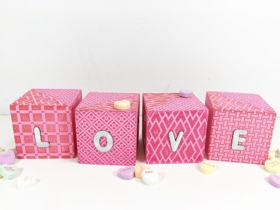 Quick and Easy Stamped Valentine Message Blocks