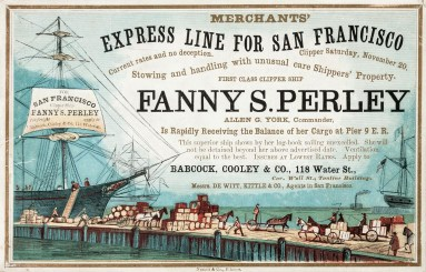 In 1853, clipper ships began publishing ship cards that advertised their departure date.