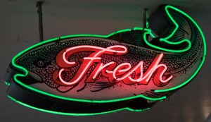 Fresh fish at the Pike Place Market. Photograph, Ann Fisher.