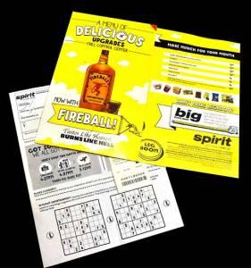 Spirit Airlines Refreshment Menu