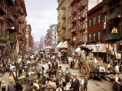 Mulberry Street on New York's Lower East Side, ca. 1900