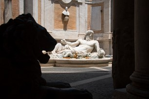 Fountain of Neptune, the Capitoline Museum. Photograph, Ann Fisher.