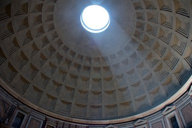 Dome of the Pantheon. Photograph, Ann Fisher.