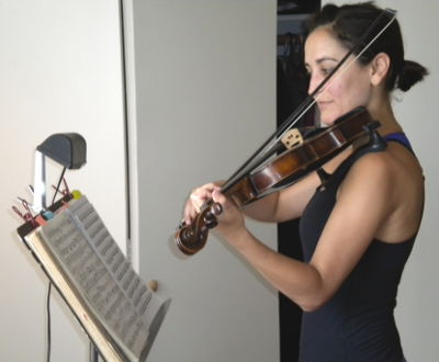 An Dunn Violin. Adult student