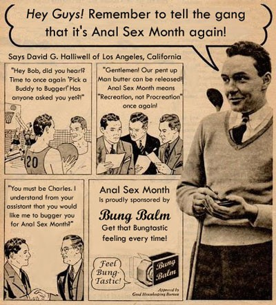Anal Sex Month