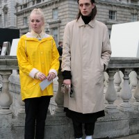His and hers: Raincoat...Somerset House, London