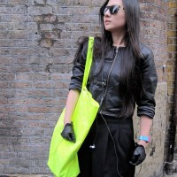 Black, Fluoro Yellow and Zippers...Bricklane, London