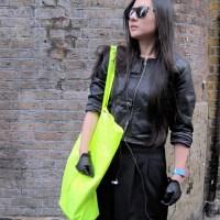 Black, Fluoro Yellow and Zippers...Bricklane, London