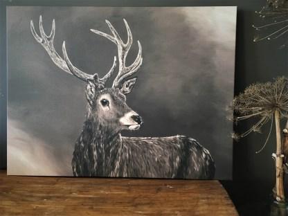 Schilderij hert herten landelijk canvas reproductie