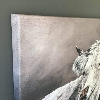schilderij landelijk koe reproductie