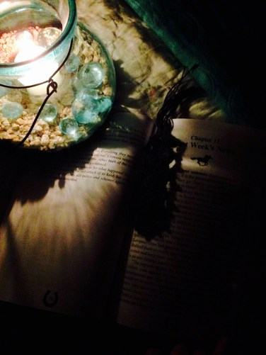 Reading by candle light is slightly difficult