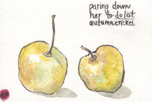 Paring Down Watercolor by Anne Burgevin