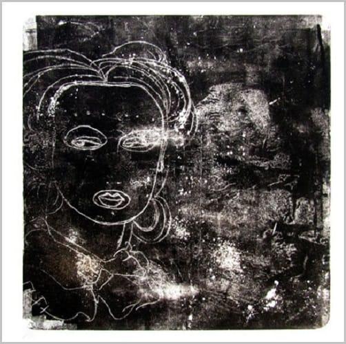 Gravure contemporaine -Masque des constellations- Anne Carpena