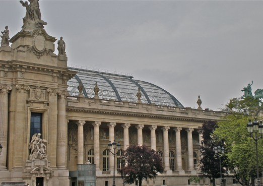 "Grand Palais des Champs-Élysées, dedicated ""by the French Republic to the glory of French art"""