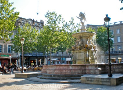 Town square of the medieval city, Carcassonne