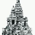 Indian Shore Temple Mahaballipuram (black & white version)