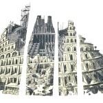 Babel Tower in Pieces (Homage to Bruegel)