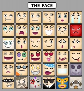 a page of faces