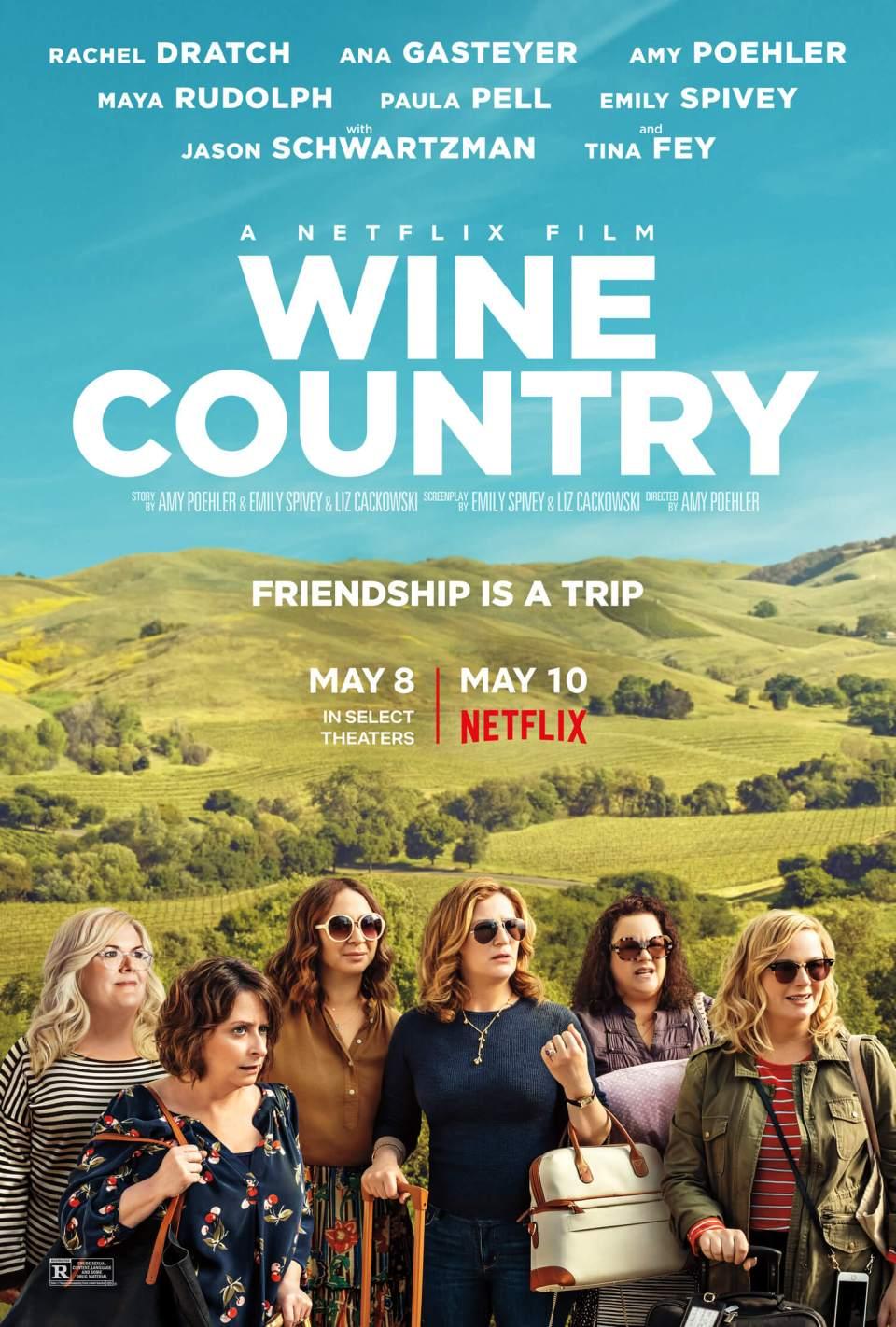 Wine Country - det høres ut som en film om vin, men kvinner og vennskap er mer hovedtema, dog lyst på vin får du nok. Dette er filmen for deg som liker en blanding av drama og komedie, og en happy ending. Her får du mer om filmen og noen forslag til amerikanske viner.
