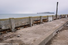 This is the old decaying pier. Much of it is closed.