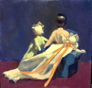 """""""Other Mothers' Children"""" oil on oanel"""