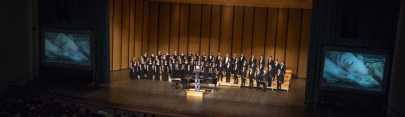 Eric Whitacre conducting Sleep at Emens Auditorium Ball State