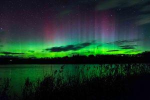 Northern Lights Aurora Borealis Balgavies Loch Forfar
