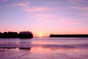 Arbroath harbour sunrise