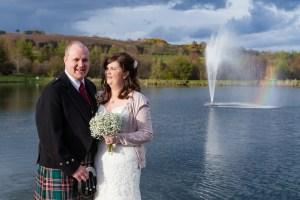 Rainbow at Forbes of Kingennie wedding