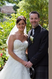 Bride and Groom at the Woodlands Hotel, Dundee