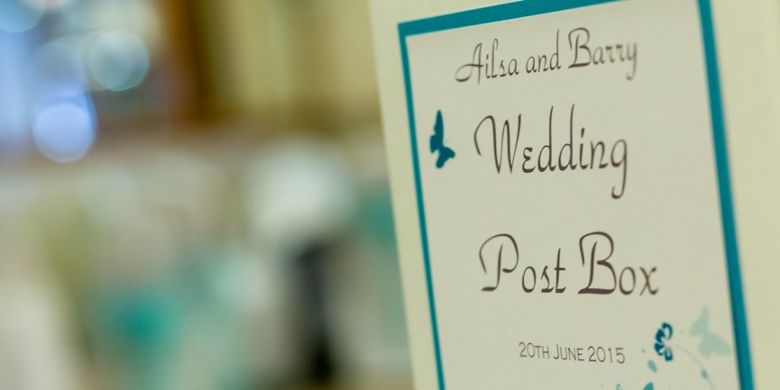 Wedding post box at the Woodlands Hotel, Dundee