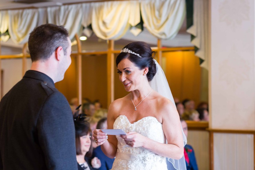 weddings photography vows Woodlands Hotel Dundee