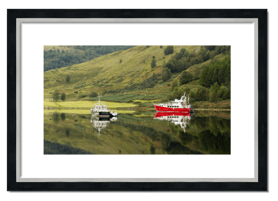 Fine art framed print of boats on Loch Lochy