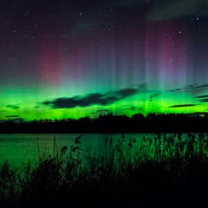 Northern Lights over Balgavies Loch