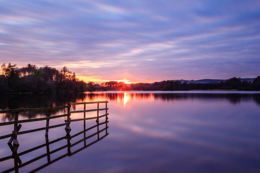 Balgavies Loch sunset