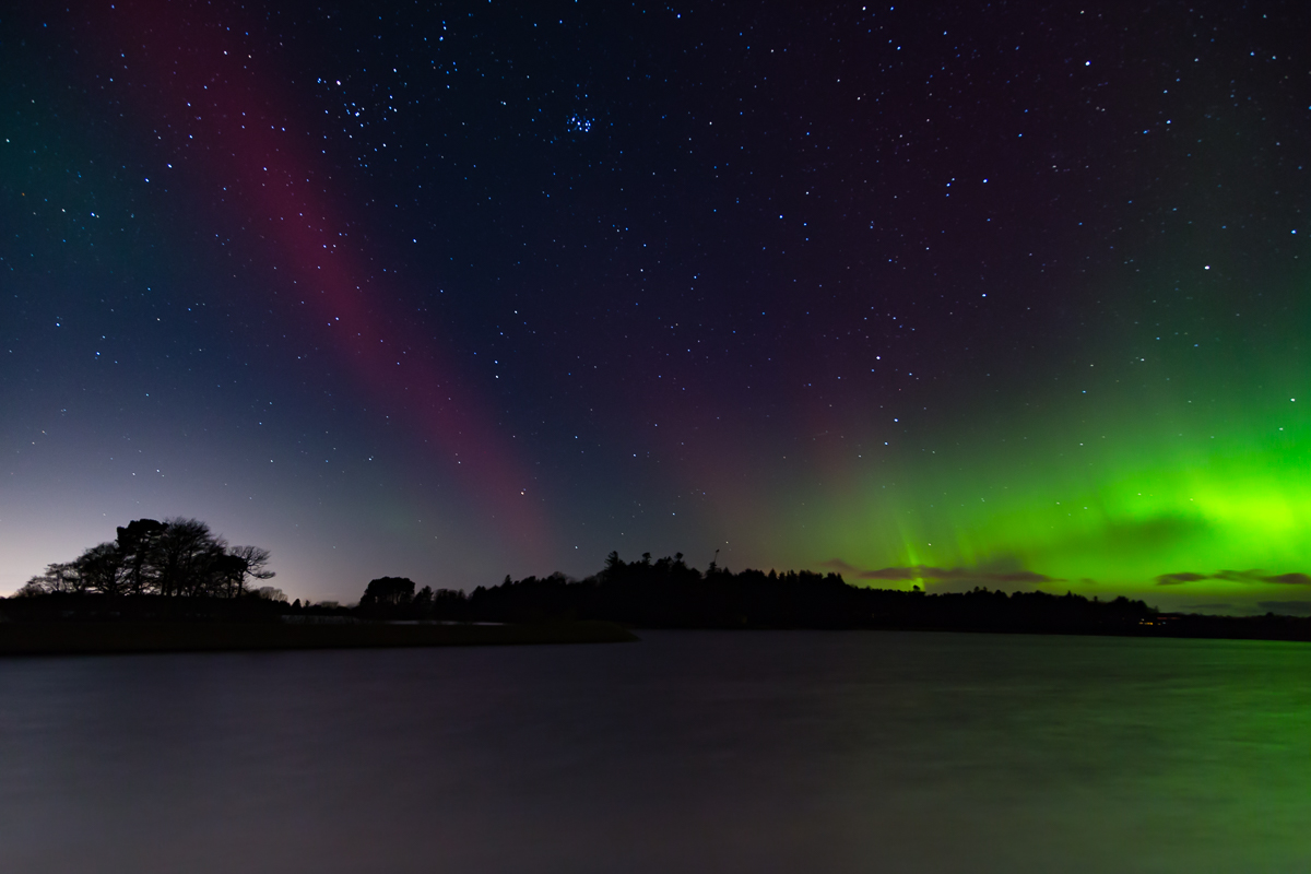 Northern Lights over Monikie Country Park, Angus