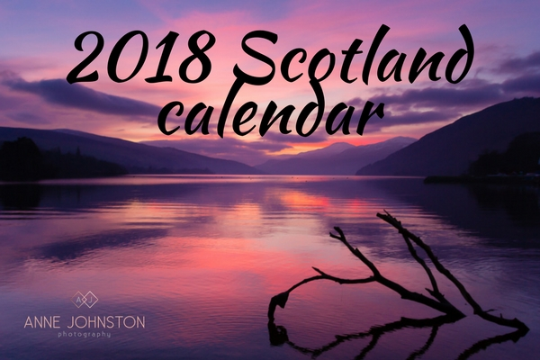 Join the waiting list for Anne Johnston Photography's 2018 Scotland Calendar