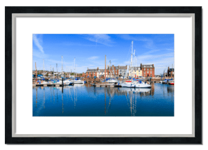 Fine art framed print of Arbroath Marina