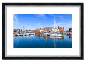 Fine art framed print of Arbroath Marina