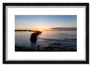 Fine art framed print of Arbroath Sunrise